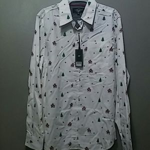 A brand new white shirt with christmas designs